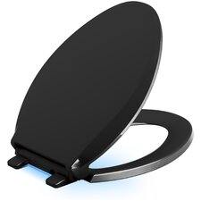 Cachet Nightlight Quiet-Close with Grip-Tight Elongated-Front Toilet Seat