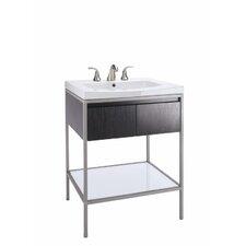 "Persuade Petite Vanity / Persuade Vanity-Top Bathroom Sink with 8"" Widespread Faucet Holes"