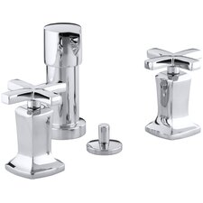 Margaux Vertical Spray Bidet Faucet with Cross Handles