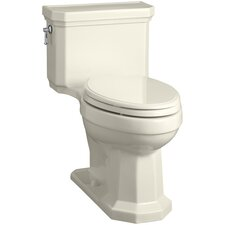 Kathryn Comfort Height Elongated One-Piece 1.28 GPF Toilet with Aquapiston Flush Technology, Left-Hand Trip Lever and Concealed Trapway