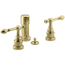 Iv Georges Brass Vertical Spray Bidet Faucet with Lever Handles