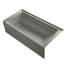 """Archer 72"""" x 36"""" Alcove Whirlpool with Bask Heated Surface"""