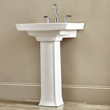 "Archer Pedestal Bathroom Sink with 8"" Widespread Faucet Holes"