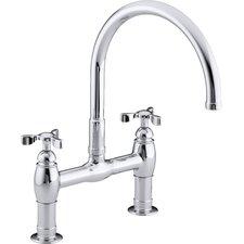 Parq Double Handle Deck-Mount Kitchen Faucet