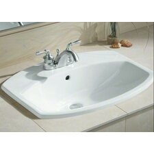 "Cimarron Drop-In Bathroom Sink with 4"" Centerset Faucet Holes"