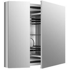 "Verdera 34"" W x 30"" H Aluminum Medicine Cabinet"