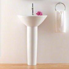 Parigi Pedestal Bathroom Sink with Single Faucet Hole