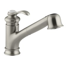 """Fairfax Single-Hole or Three-Hole Kitchen Sink Faucet with 9"""" Pullout Spout"""