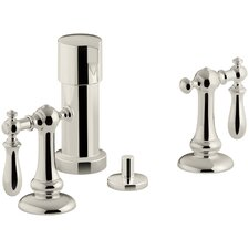 Artifacts Widespread Bidet Faucet with Swing Lever Handles