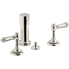 Artifacts Widespread Bidet Faucet with Lever Handles
