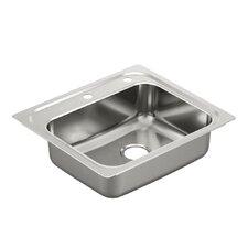 """1800 Series 25"""" x 22"""" Single Bowl Kitchen Sink"""