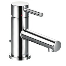 Align Standard Single Handle Single Hole Bathroom Faucet with Drain