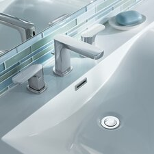 Rizon Double Handle Widespread Bathroom Faucet with Drain