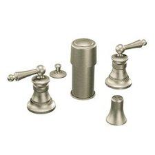 Waterhill Double Handle Vertical Spray Bidet Faucet