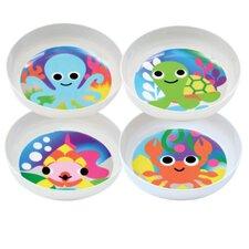 Ocean Melamine Dining Bowl 4 Piece Set