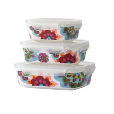 Gala 3 Piece Porcelain Storage Container Set