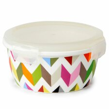 Ziggy 20 Oz. Round Porcelain Storage Container (Set of 4)