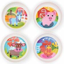 Farm 13.2 oz. Melamine Kids Bowl 4 Piece Set (Set of 4)