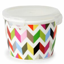 Ziggy 32 Oz. Round Porcelain Storage Container (Set of 4)