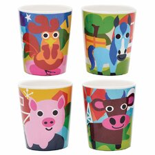 Farm Kids Juice Cup 4 Piece Set (Set of 4)
