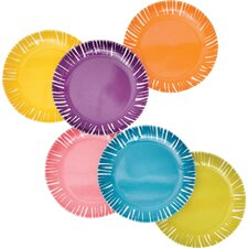 "Fringe 6.5"" Melamine Appetizer Plate 6 Piece Set (Set of 6)"