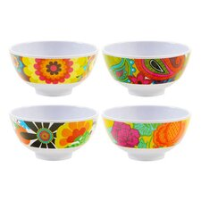Floral Melamine Mini Bowl 4 Piece Set