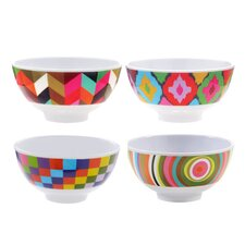 Multi Melamine Mini Bowl 4 Piece Set