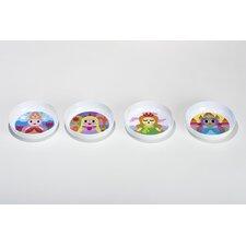 Princess Melamine Kids Bowls 4 Piece Set