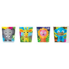 Jungle Kids Juice Cups (Set of 4)