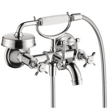 Axor Montreux Two Handle Wall Mounted Freestanding Tub Filler with Hand Shower
