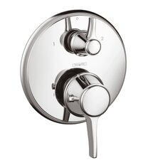 Ecostat C Thermostatic Volume Control and Diverter Faucet Trim with Lever Handle