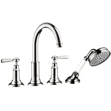 Axor Montreux Two Handle Deck Mounted Roman Tub Faucet with Hand Shower