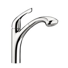 Allegro E One Handle Deck Mounted Kitchen Faucet with Pull Out Hand Spray