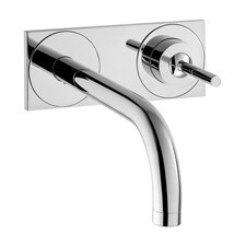 Axor Uno Single Handle Wall Mounted Faucet with Base Plate