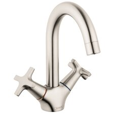 Logis Classic Faucet Double Handle with Drain Assembly