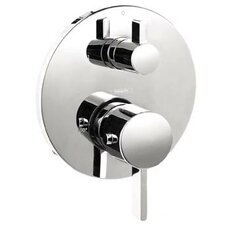 S Thermostatic Volume Control and Diverter Faucet Trim with Lever Handle