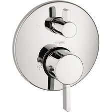 S Thermostatic Volume Control Faucet Trim with Lever Handle