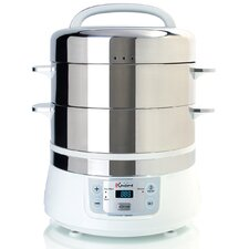 17 Qt. Stainless Steel 2 Tier Electric Food Steamer