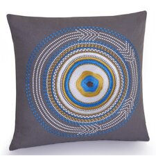 Rimini Hand Embroidered Cotton Throw Pillow