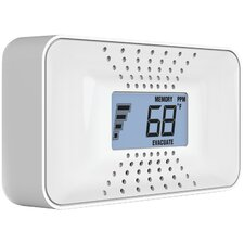 Carbon Monoxide Alarm with Temperature, Digital Display & Sealed Battery