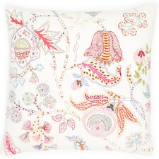 Mirabelle Embroidered Cotton Throw Pillow