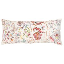 Mirabelle Embroidered Cotton Boudoir/Breakfast Pillow