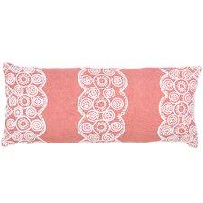 French Knot Linen Double Boudoir Decorative Pillow