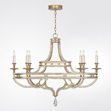 Prussian Neoclassic 6 Light Candle Chandelier