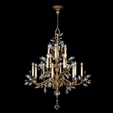 Crystal Laurel Gold 16 Light Chandelier
