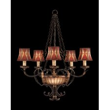 Brighton Pavillion Five Light Chandelier in Bronzed Sienna