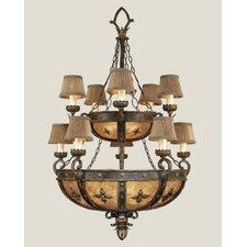 Castile Ten Light Chandelier in Antique Gold