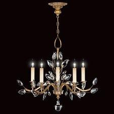 Crystal Laurel Gold 5 Light Chandelier