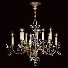 Crystal Laurel Gold 10 Light Chandelier