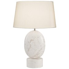 """White Marble 29"""" H Table Lamp"""